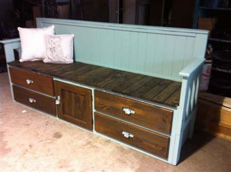 twin bed bench twin bed repurposed into a bench my personal crafts