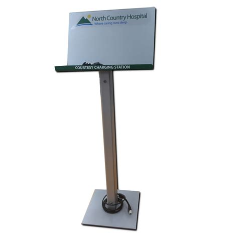 floor stand charging station premier signs graphics