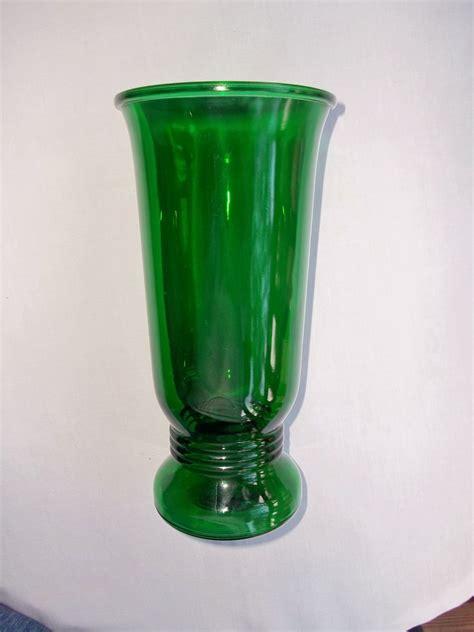 Vintage Green Vase by Vintage Napco Emerald Green Glass Vase
