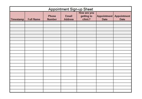 sign in sheets templates 40 sign up sheet sign in sheet templates word excel