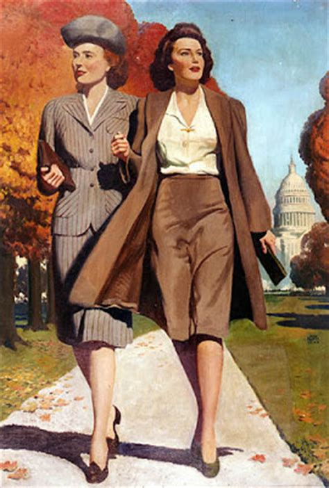 Office Fashion Hairtyles For Women At 40s | 1940 s fashion waves women in the us navy glamourdaze