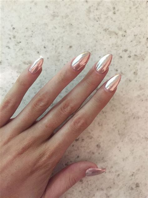 rose gold chrome rose gold chrome achieved by using a melon pink base and