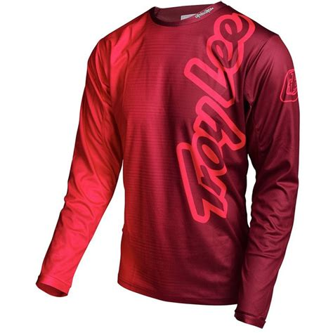 design jersey red troy lee designs sprint jersey long sleeve men s