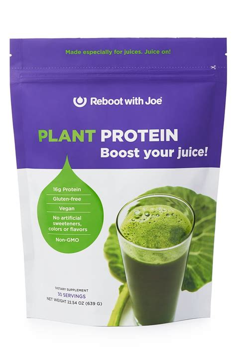 protein juice powder protein powder for juices plant protein reboot with