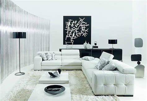 White And Black Living Room Furniture | minimalist black and white living room furniture desig