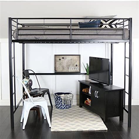 furniture full size metal loft bed  buy