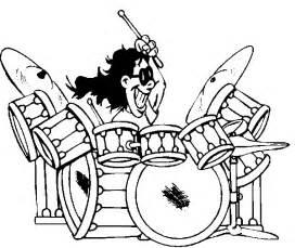 drums amp drummer coloring pages rock amp roll drummer