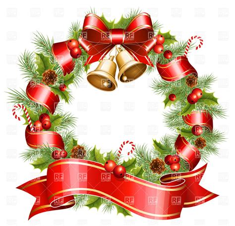 Christmas wreath 5370 holiday download royalty free vector clipart