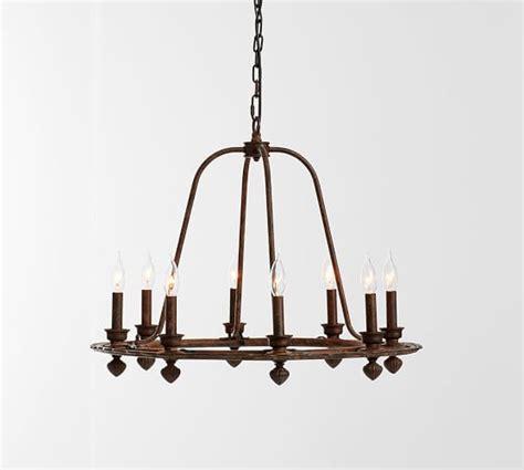 ornate iron ring chandelier pottery barn