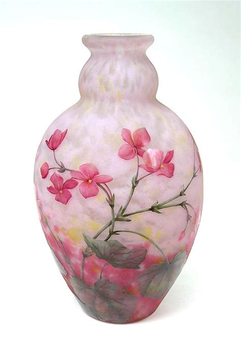 Pink Flower Vases by July 2011 Philip Chasen Antiques