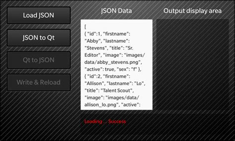 qstring format html cascades json read and write exle