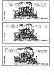 Polar express train ticket template car pictures