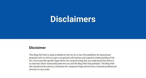 sle disclaimer template termsfeed