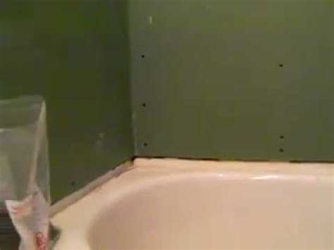 how to install drywall around a bathtub proper gyproc installation around tub mp4 youtube