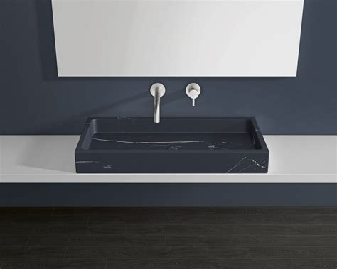 Black Marble Sink by Black Marble Countertop Sink Mwb 01 L Badeloft Usa