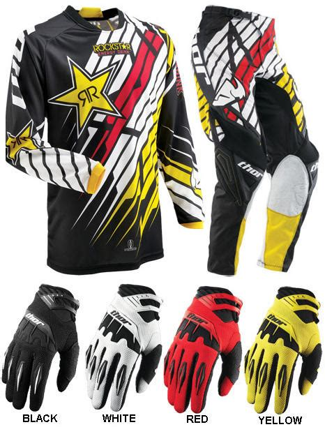 youth rockstar motocross gear thor mx gear 2013 phase rockstar combo youth car