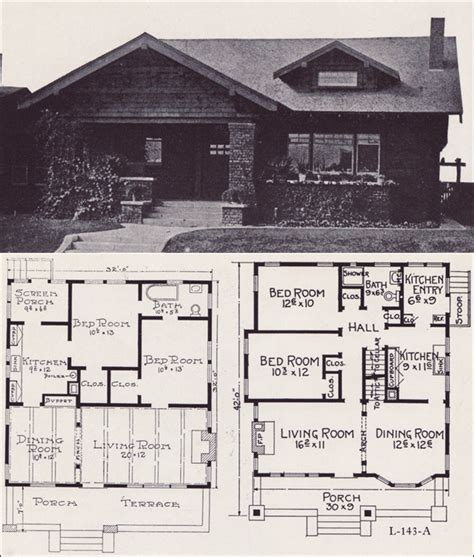 craftsman bungalow house plans 1920s