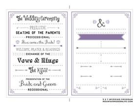 Program Template by Free Printable Wedding Program Mountainmodernlife