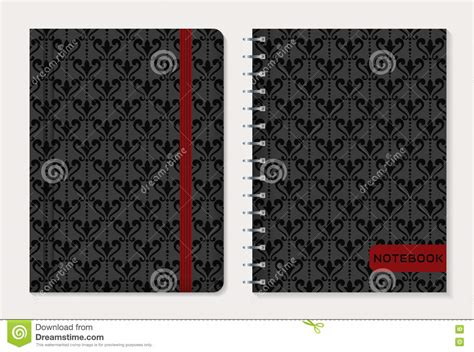 notebook cover design vector free download notebook cover design vector set stock vector