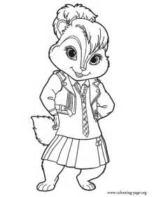 alvin and the chipmunks brittany miller coloring page