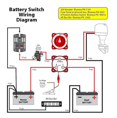 wiring diagram for dual batteries cer remarkable boat
