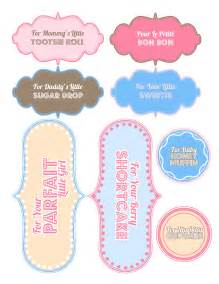 template for baby shower favors 7 best images of printable baby templates free printable