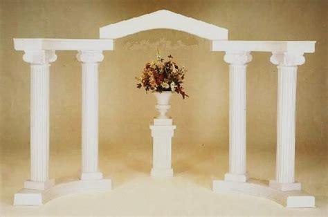 wedding arches columns white colonnade wedding arch all seasons rent all