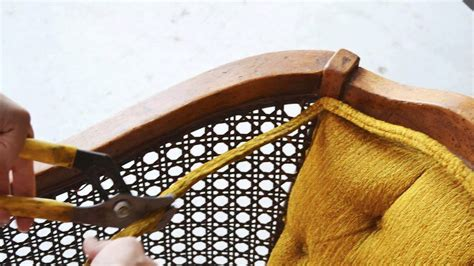 replacing wicker back chairs how to replace chair with fabric