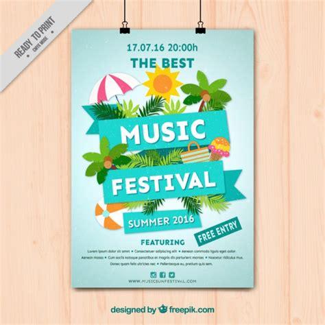 Plakat Quellenangaben by Musikfestival Plakat Mit Sommer Elemente Der