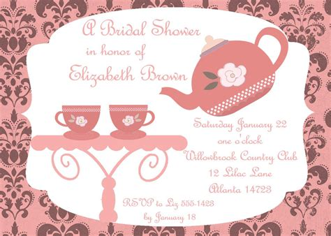 vintage tea party invitations party invitation templates tea