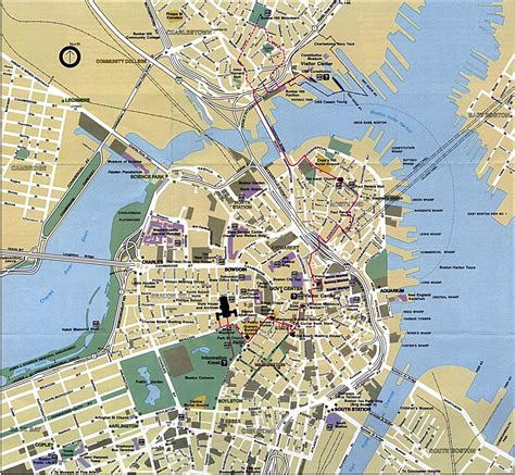 printable map boston large boston maps for free download and print high