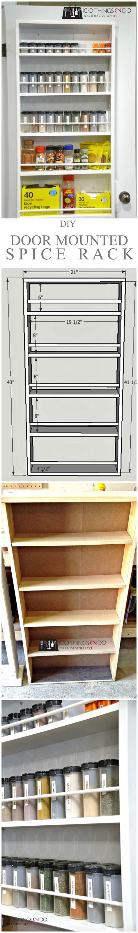 Door Mounted Spice Racks For Cabinets Pinterest The World S Catalog Of Ideas