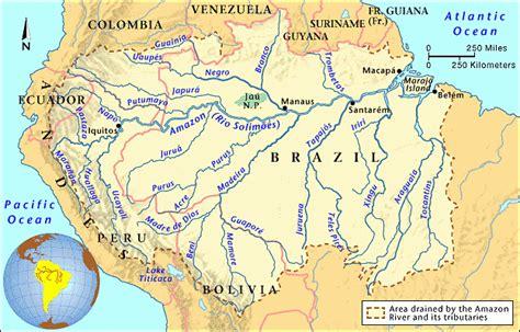 amazon river map grolier online atlas