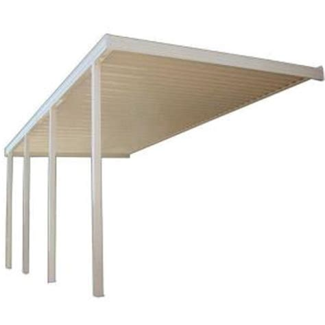 Patio Covers At Home Depot Four Seasons Building Products 18 Ft X 10 Ft White