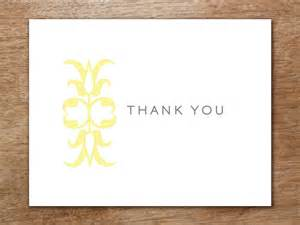 Thank You Card Template With Tree by Thank You Card Template Ornament