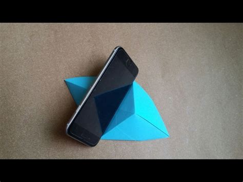 origami phone holder how to make mobile phone holder with paper origami diy