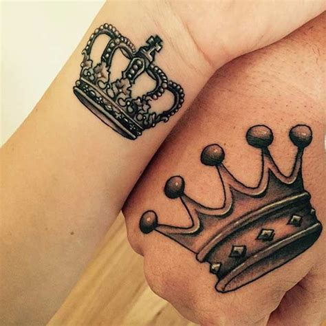 needle queen tattoo 51 king and queen tattoos for couples crown tattoo