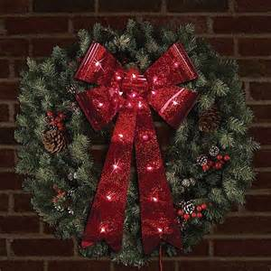 best photos of lighted christmas bows outdoor christmas