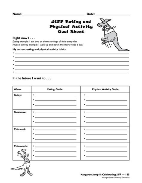 Physical Health Worksheets by All Worksheets 187 Lifetime Health Worksheets Printable