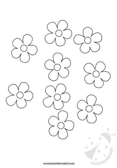 sagome fiori di carta ghirlanda di fiori sagome