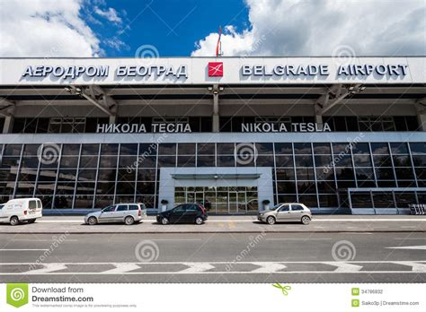 Belgrade Nikola Tesla Airport Nikola Tesla Airport Belgrade Serbia Editorial