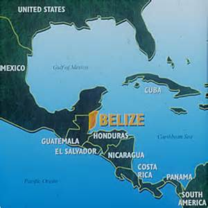 south america map belize fiche pays belize geolinks