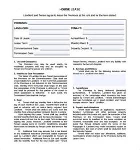 Housing Agreement Template by Housing Lease Template Bestsellerbookdb