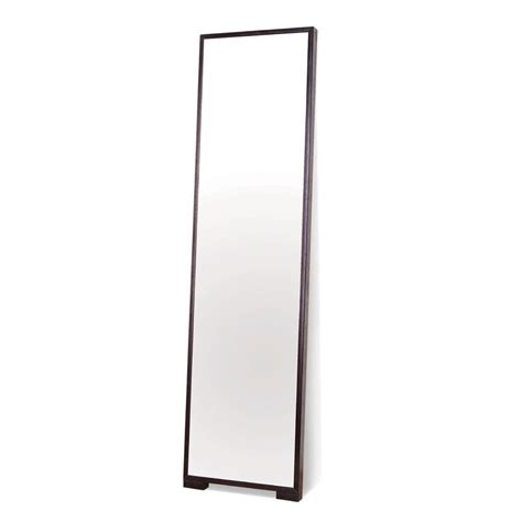 shop bh design espresso floor mirror at lowes com