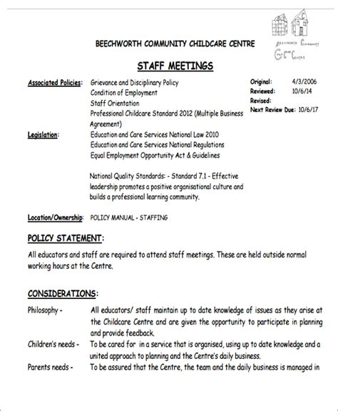 team around the child meeting template 10 management agenda exle free sle exle