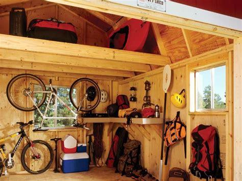 Shed Interiors And Storage Ideas by Loft Storage Backyard