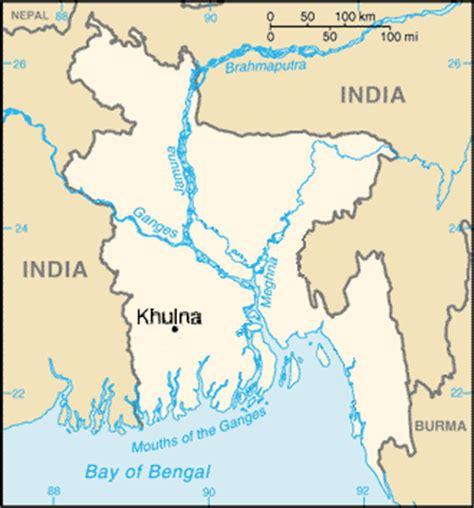 map of khulna city khulna city mapsof net