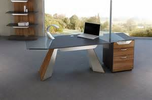 Rustic contemporary home office with l shape wooden desk