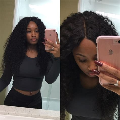 lace closure sew in styles middle part sew in with lace closure ig hairbychasitee