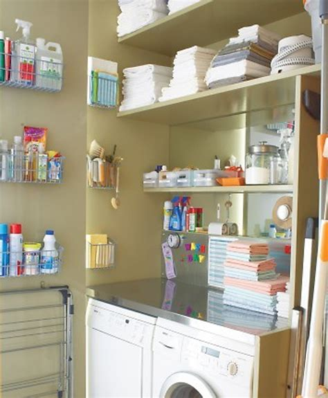 Utility Closet Organization Ideas by White Laundry Room Storage Ideas